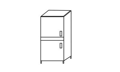 Cupboard Line Vector