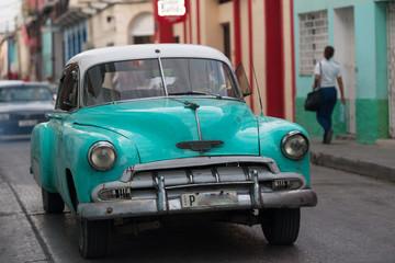 Foto op Aluminium Cubaanse oldtimers キューバ クラシックカー