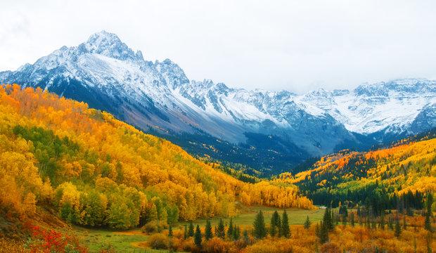 Mount Sneffels near Ridgway Colorado in Autumn