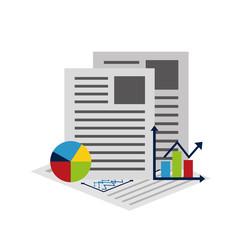 statistics and infographics set icons