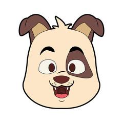 Cute dog cartoon vector illustration graphic design