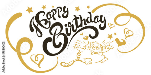 happy birthday card template greeting card with words and a