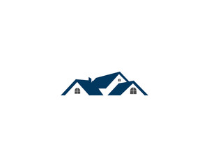 home house real estate residential building logo