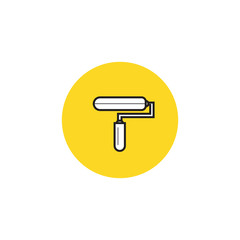 Paint Roller Icon Vector flat design style.