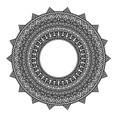 African pattern in the circle. Ornament, mandala