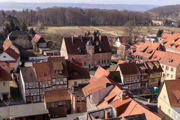 Blick über die Welterbestadt Quedlinburg