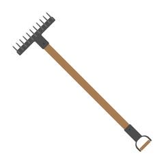 rake garden tool vector illustration