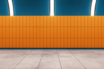Contemporary subway with copyspace