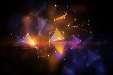 Blurry polygonal backdrop