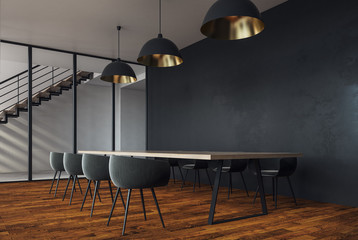 Modern meeting room with copyspace