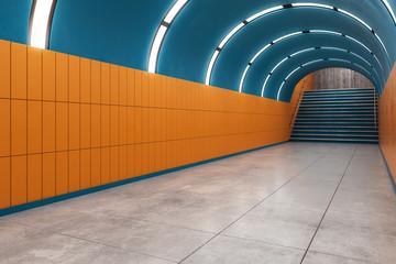 Orange subway metro