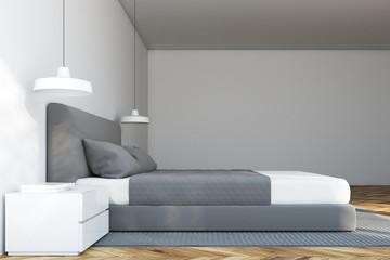 White Scandinavian bedroom interior