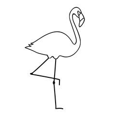 Ausmalbild Flamingo