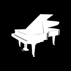 White_grand_piano_silhouette