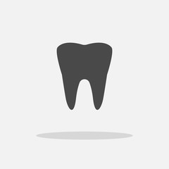 tooth vector icon dental icon teeth with shadow