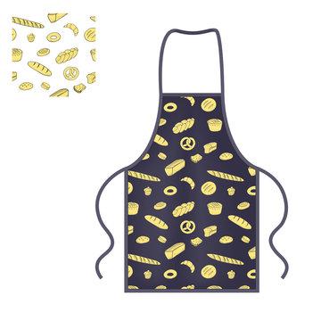 Black kitchen protective apron mocap