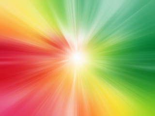 Beautiful Bright Colorful Sun Rays Background