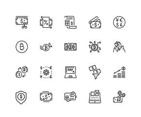 Set of Finance Line Icons