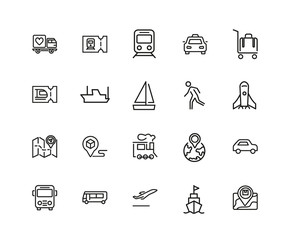 Set of Journey Line Icons