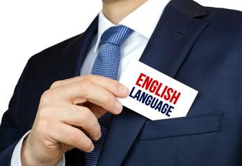 English Language - business card advice