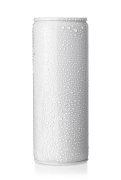 beer can with drops