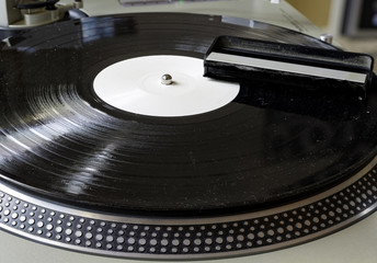 Cleaning brush for audio equip. Remove dust from old music records on turntable. Hifi audio system