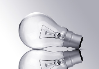 Electric Bulb Closeup isolated on grey background