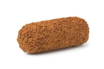 Single deep fried Dutch kroket