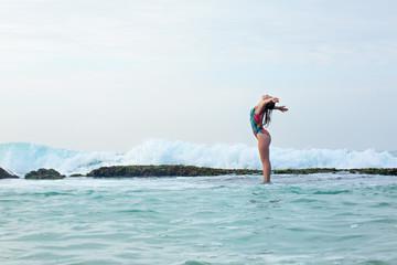 Free Girl in water