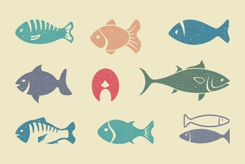 Fishes. Vector illustration
