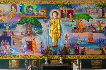 Neuzeitliches Gemälde Buddhas Leben