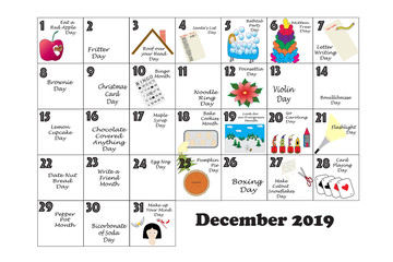 December 2019 Quirky Holidays and Unusual Events