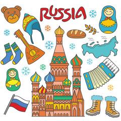 Russia Icon Element
