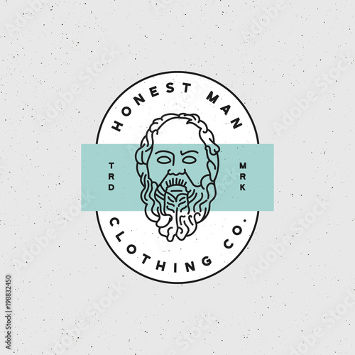 Honest Man Clothing Company Label Vector Illustration Stock Image