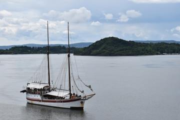 Old Big Ship Sailboat