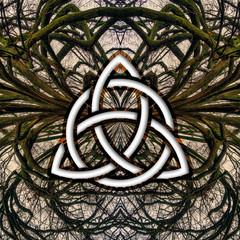poster, celtic, tree, trinity