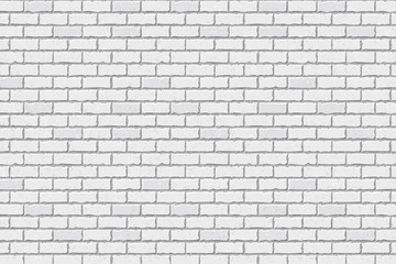 Texture of white brick, brick background. Vector illustration.
