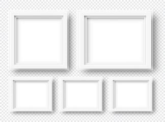 3d Vector Realistic Square Frames