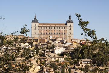 Panoramic of Toledo, with blue sky. Castilla la Mancha. Spain
