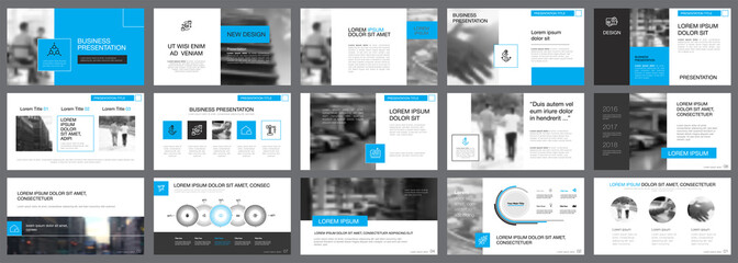 Fifteen Marketing Slide Templates Set