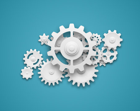 Gears composition background