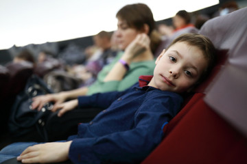Boy in dome cinema