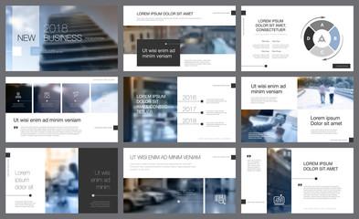 Toned photos for presentation design