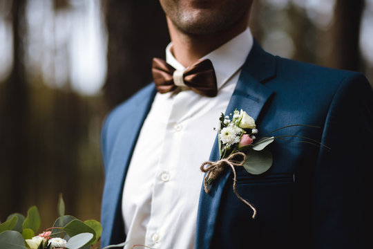 Boutonniere on the jacket