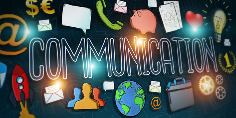 Hand-drawn communication text presentation