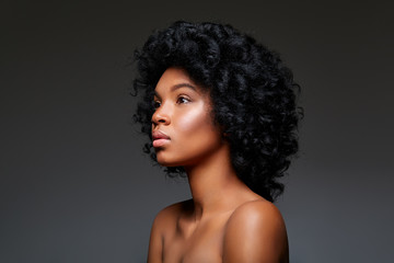 beautiful dark skin girl