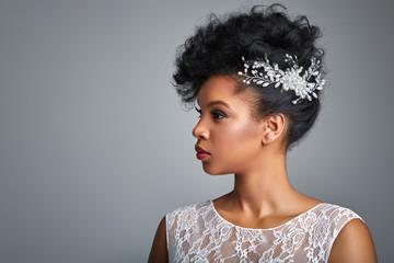 beautiful dark skin bride