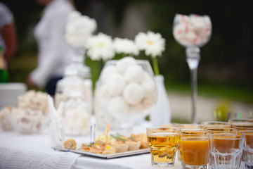 Decorative candy-bar for wedding party