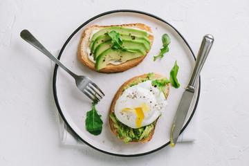 Avocado and Poached Egg Sandwiches