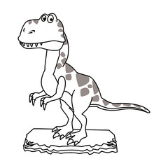 T rex cartoon vector illustration graphic design